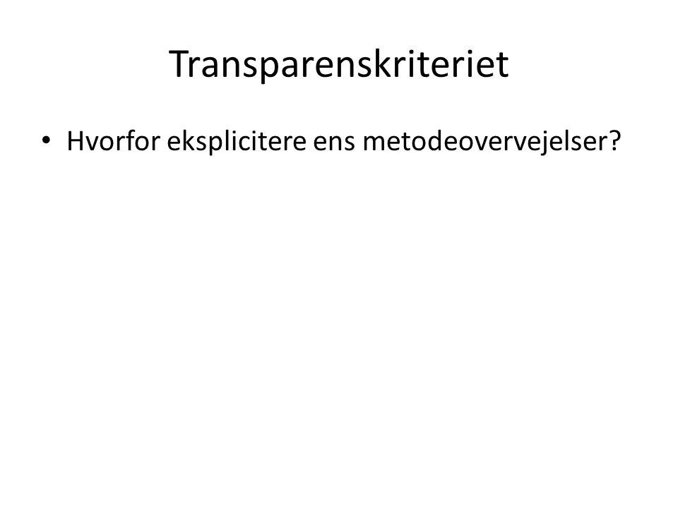 Transparenskriteriet