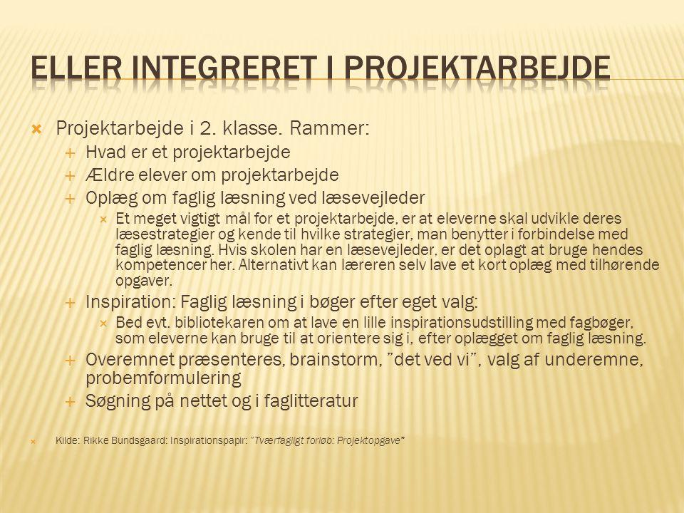 Eller integreret i projektarbejde