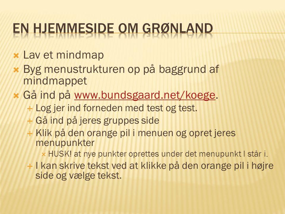 En hjemmeside om Grønland