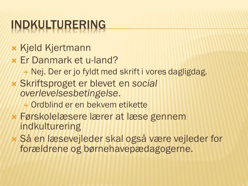 Indkulturering Kjeld Kjertmann Er Danmark et u-land