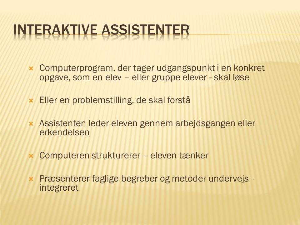 Interaktive assistenter