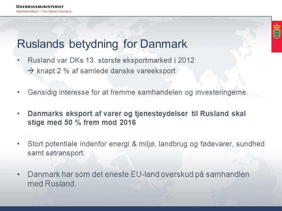 Ruslands betydning for Danmark