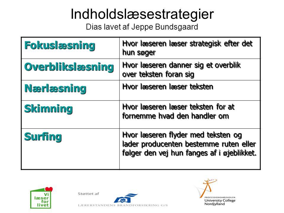 Indholdslæsestrategier Dias lavet af Jeppe Bundsgaard