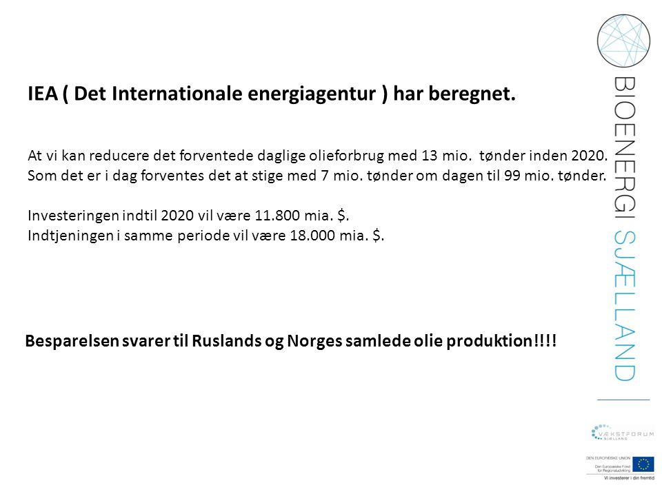 IEA ( Det Internationale energiagentur ) har beregnet.