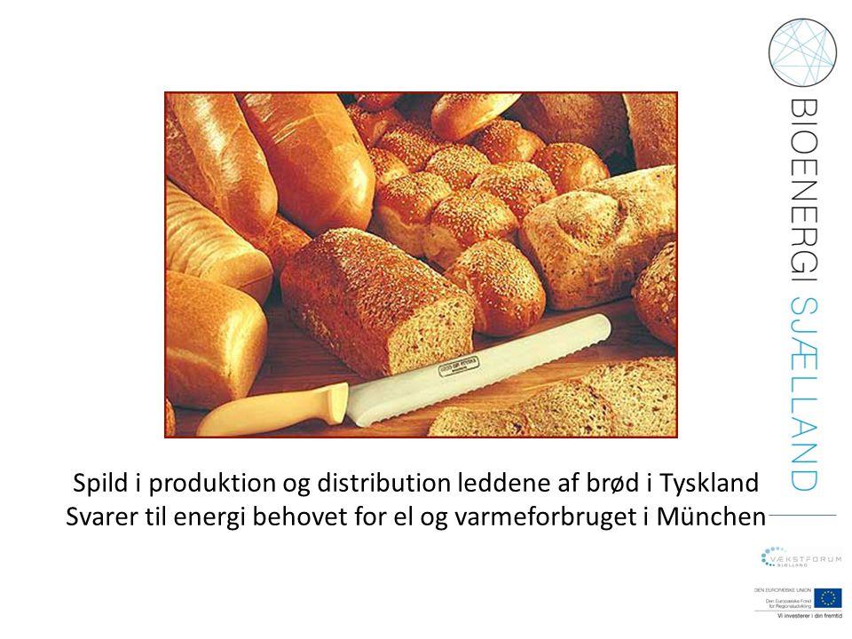 Spild i produktion og distribution leddene af brød i Tyskland