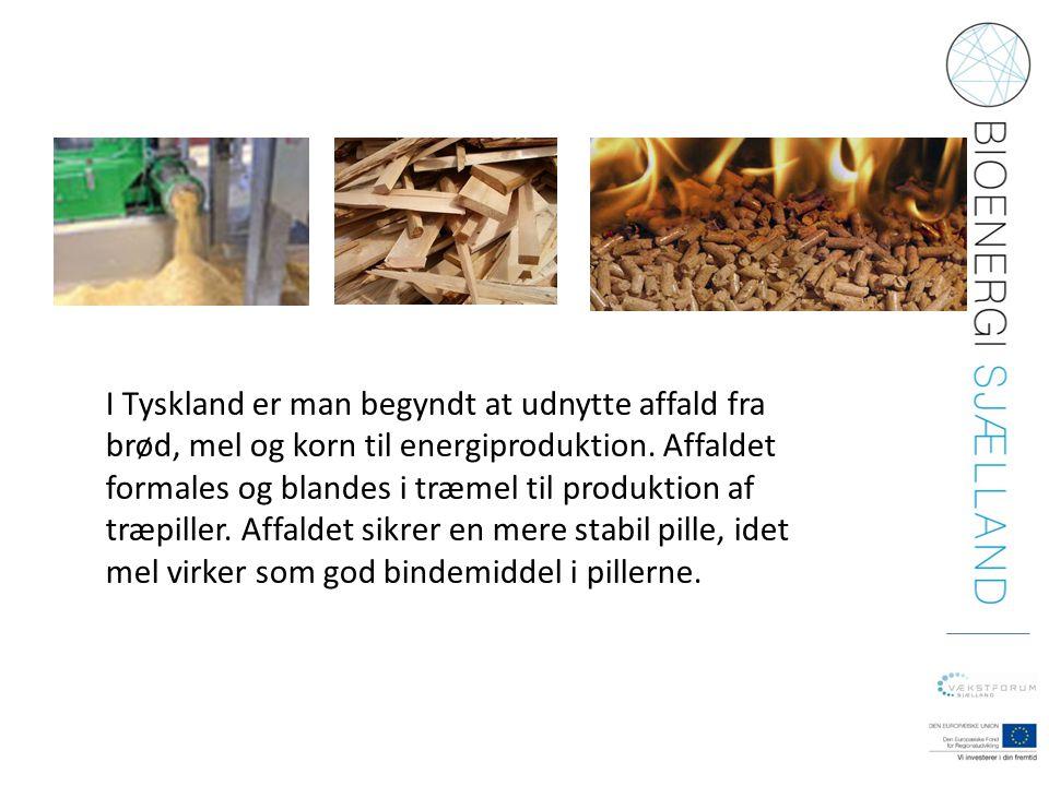 I Tyskland er man begyndt at udnytte affald fra brød, mel og korn til energiproduktion.