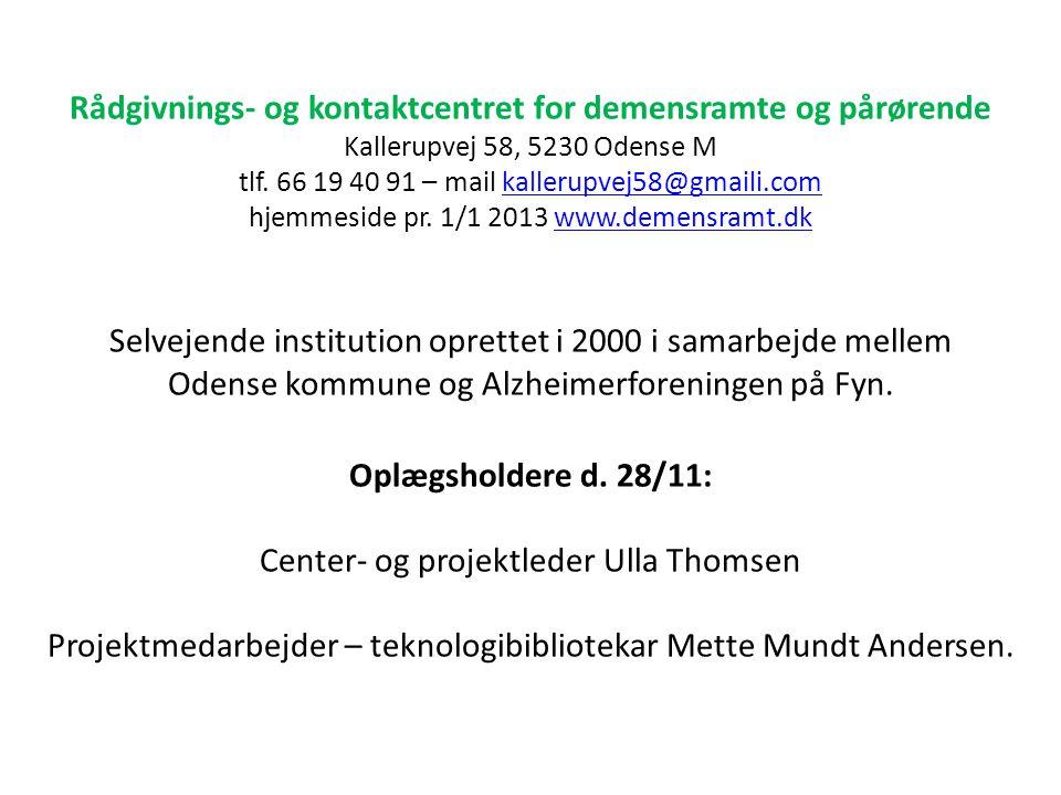 Rådgivnings- og kontaktcentret for demensramte og pårørende