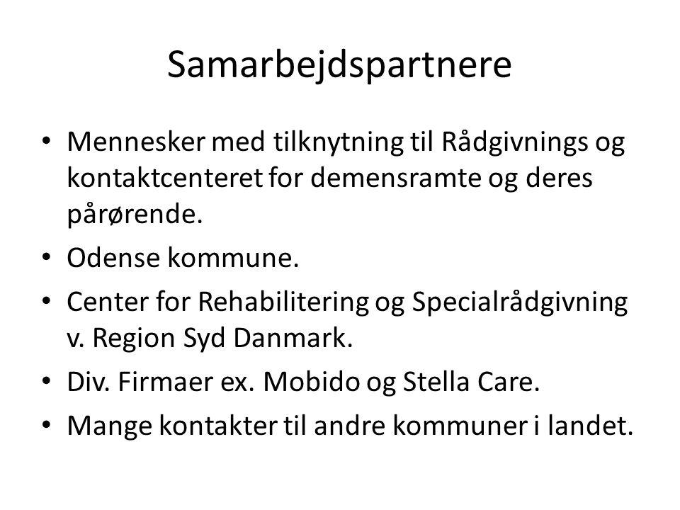 Samarbejdspartnere Mennesker med tilknytning til Rådgivnings og kontaktcenteret for demensramte og deres pårørende.