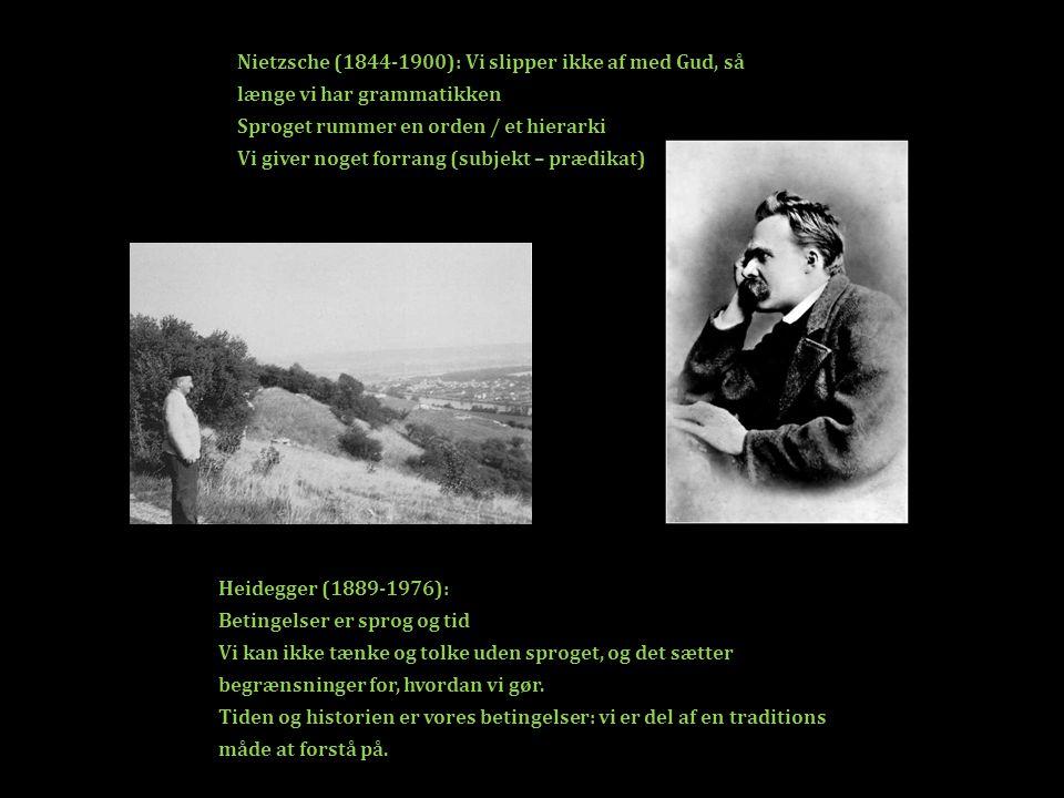 Nietzsche (1844-1900): Vi slipper ikke af med Gud, så længe vi har grammatikken