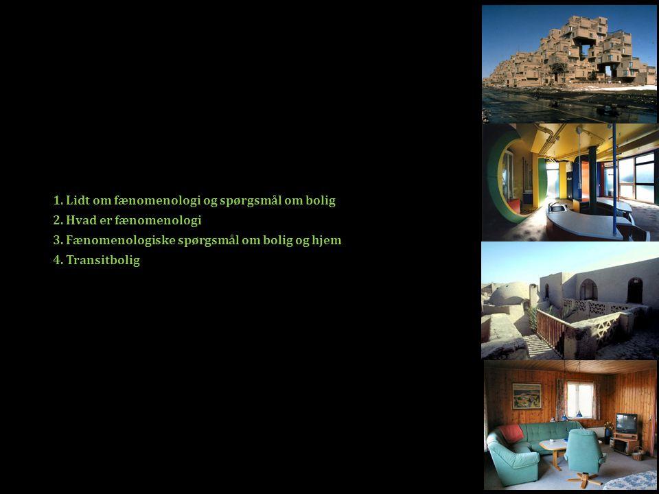 1. Lidt om fænomenologi og spørgsmål om bolig 2. Hvad er fænomenologi 3.