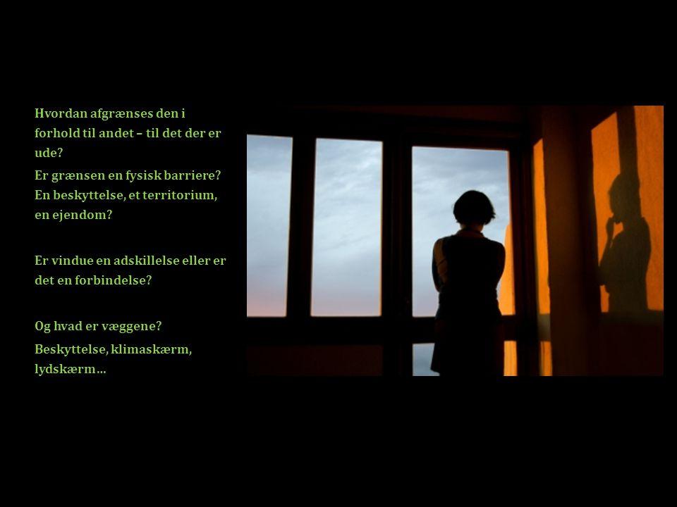Hvordan afgrænses den i forhold til andet – til det der er ude