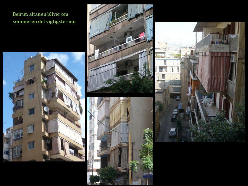 Beirut: altanen bliver om sommeren det vigtigste rum