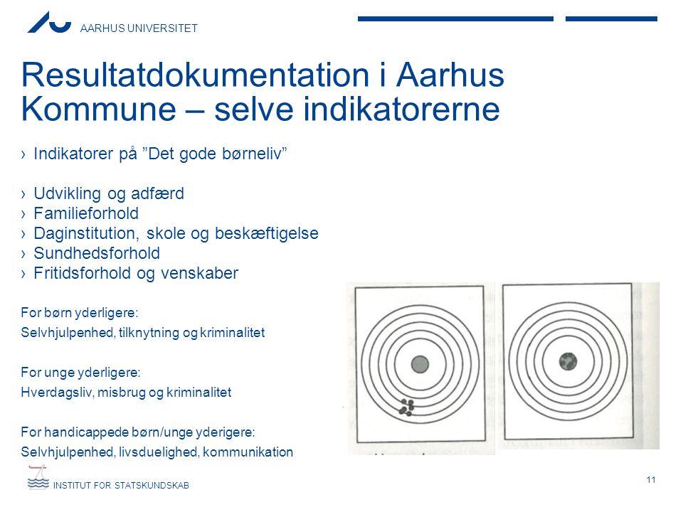 Resultatdokumentation i Aarhus Kommune – selve indikatorerne