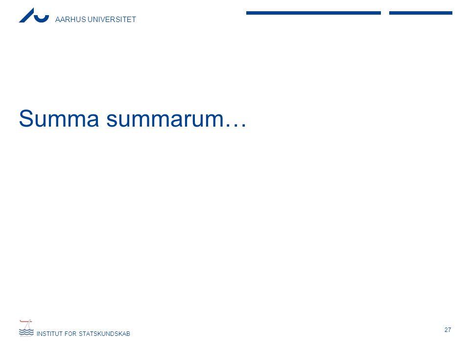 Summa summarum…
