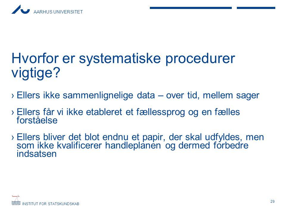 Hvorfor er systematiske procedurer vigtige