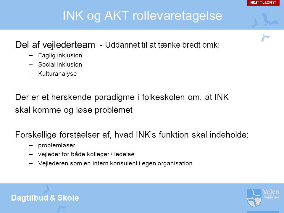 INK og AKT rollevaretagelse