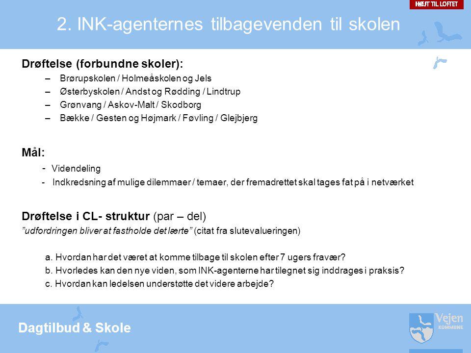 2. INK-agenternes tilbagevenden til skolen