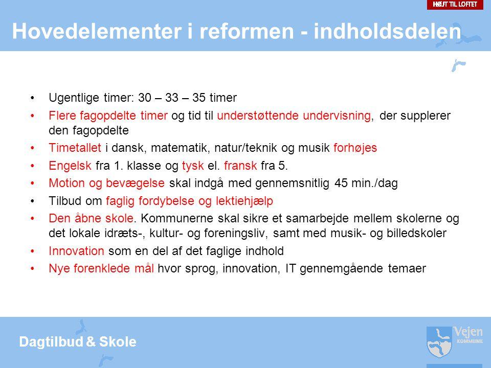 Hovedelementer i reformen - indholdsdelen