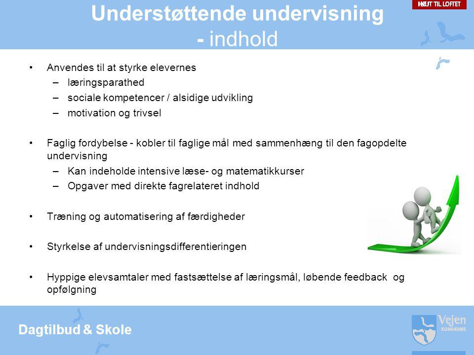 Understøttende undervisning - indhold