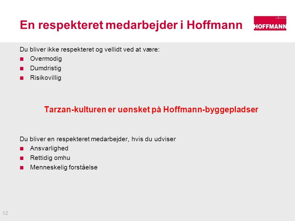 En respekteret medarbejder i Hoffmann