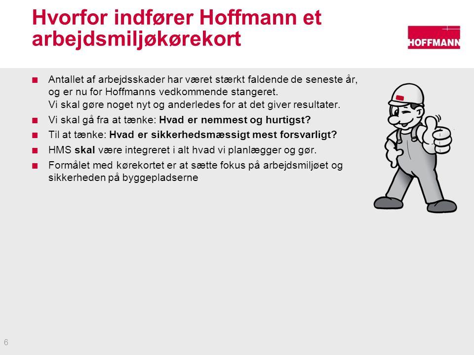 Hvorfor indfører Hoffmann et arbejdsmiljøkørekort