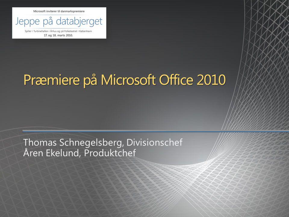 Præmiere på Microsoft Office 2010