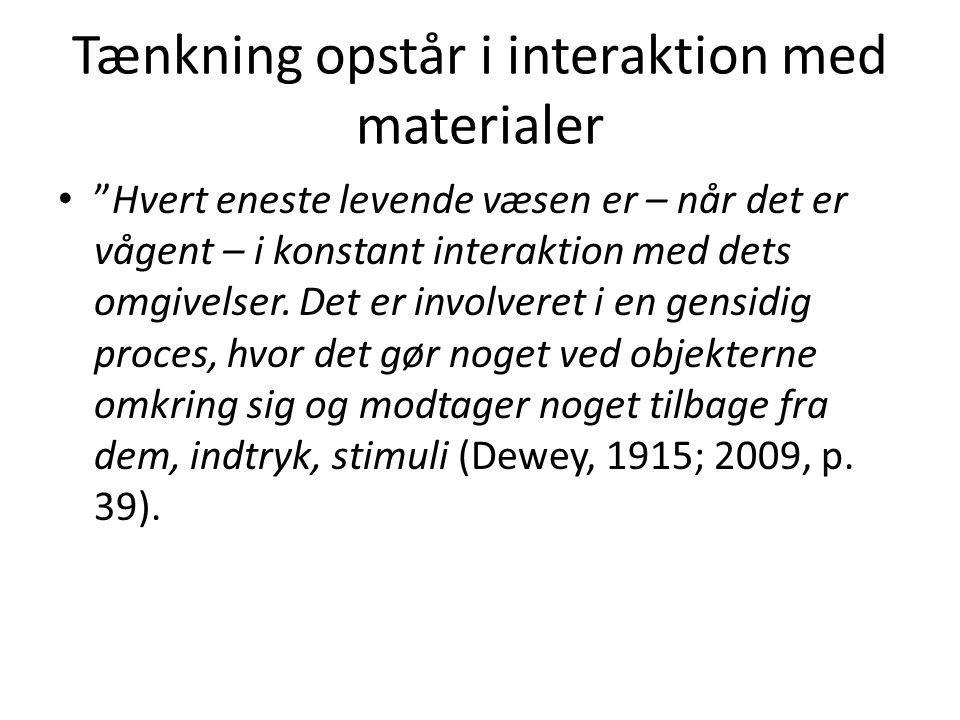 Tænkning opstår i interaktion med materialer