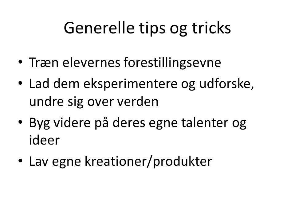 Generelle tips og tricks