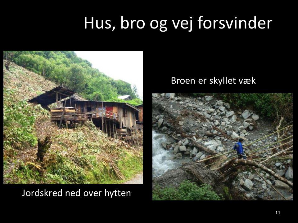Hus, bro og vej forsvinder