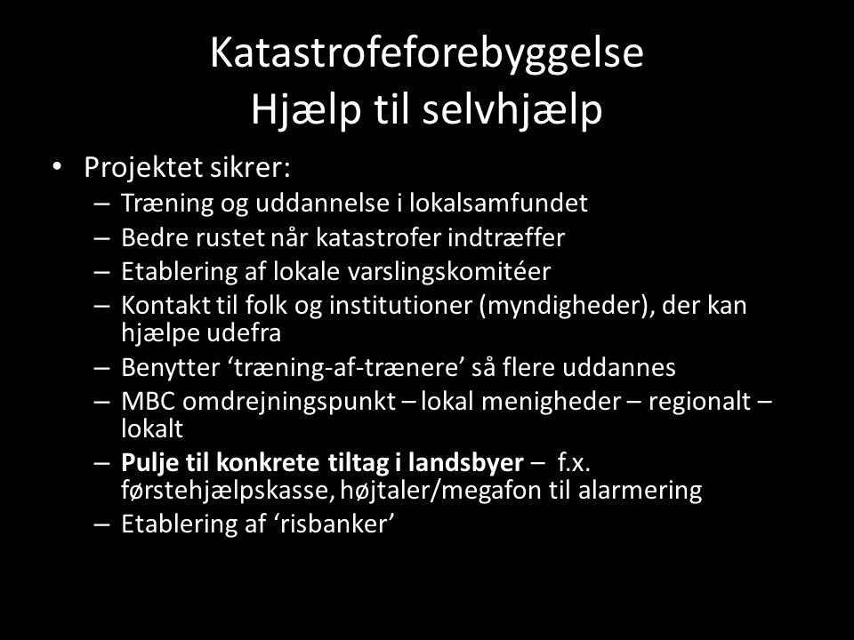 Katastrofeforebyggelse Hjælp til selvhjælp