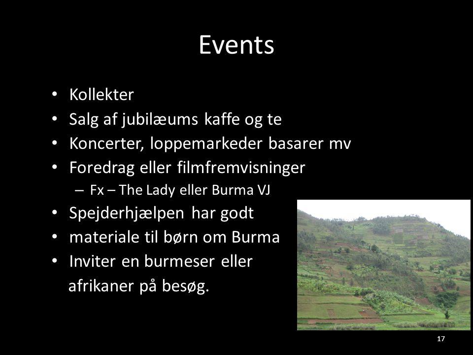 Events Kollekter Salg af jubilæums kaffe og te