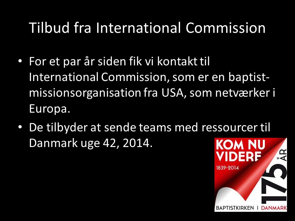 Tilbud fra International Commission