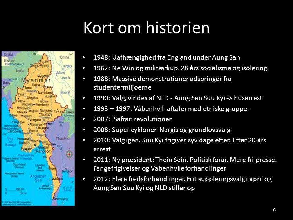 Kort om historien 1948: Uafhængighed fra England under Aung San