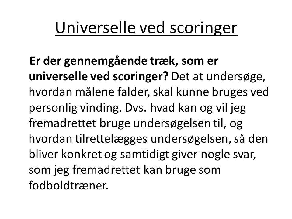 Universelle ved scoringer