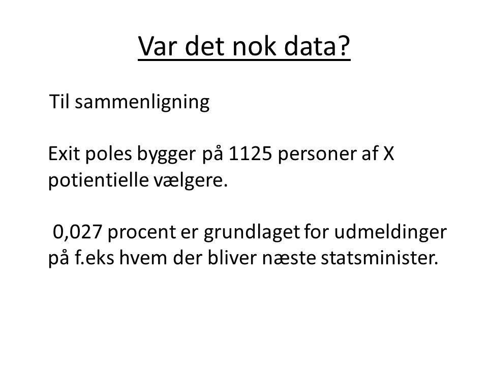 Var det nok data