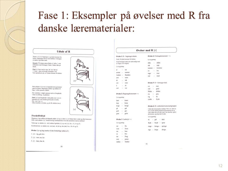 Fase 1: Eksempler på øvelser med R fra danske lærematerialer: