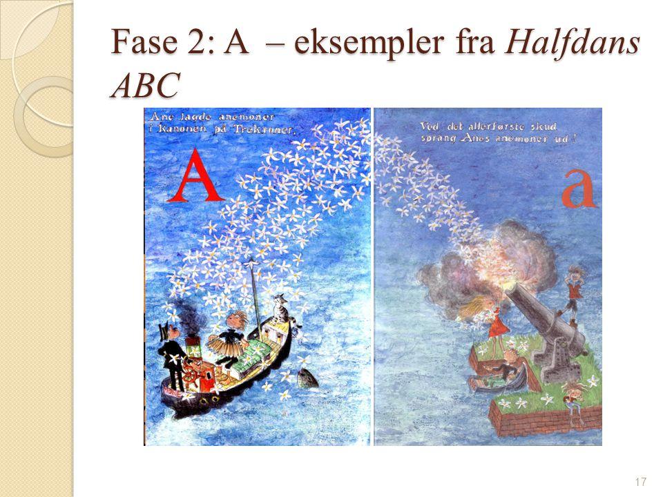 Fase 2: A – eksempler fra Halfdans ABC