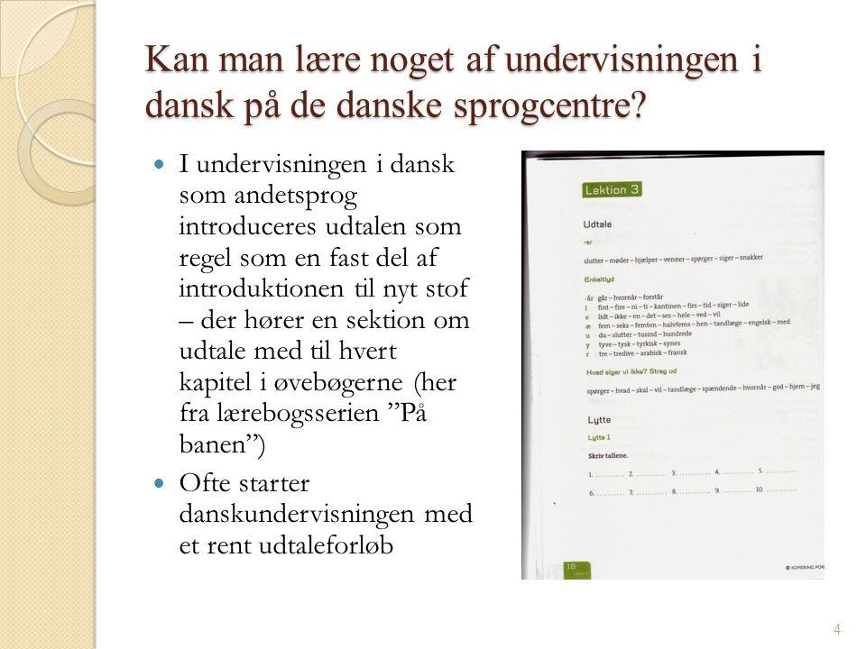 Kan man lære noget af undervisningen i dansk på de danske sprogcentre
