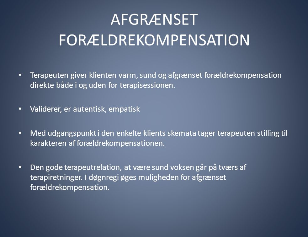 AFGRÆNSET FORÆLDREKOMPENSATION
