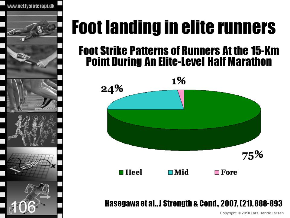 Foot landing in elite runners