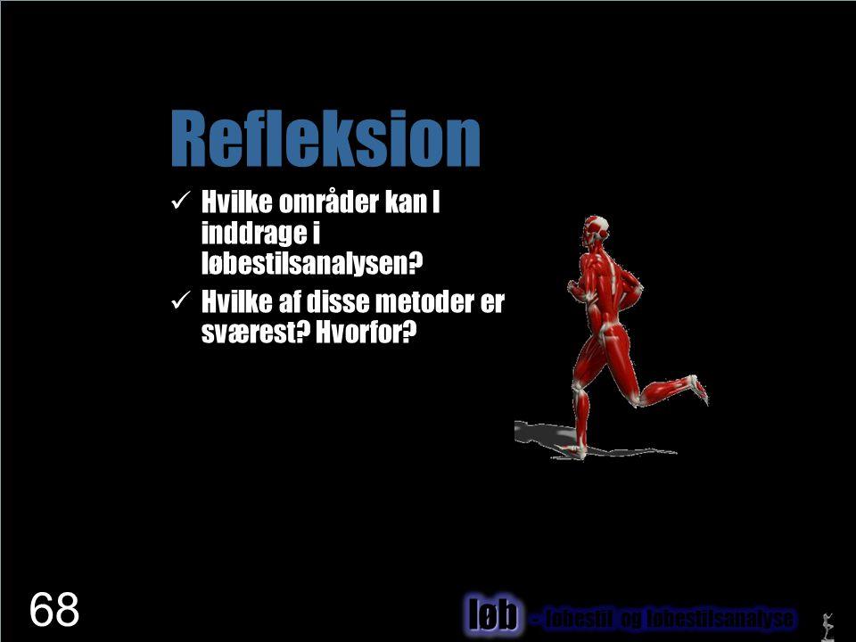 Refleksion løb Hvilke områder kan I inddrage i løbestilsanalysen
