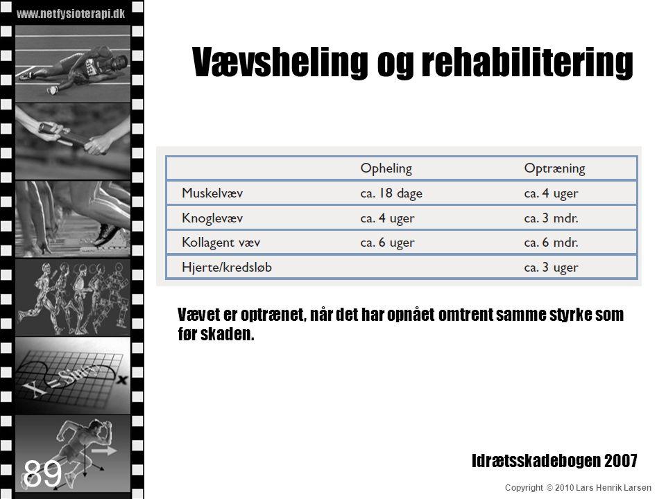 Vævsheling og rehabilitering