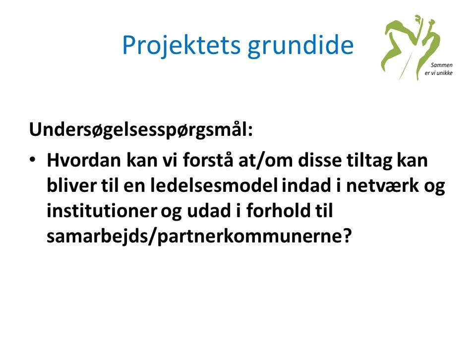 Projektets grundide Undersøgelsesspørgsmål: