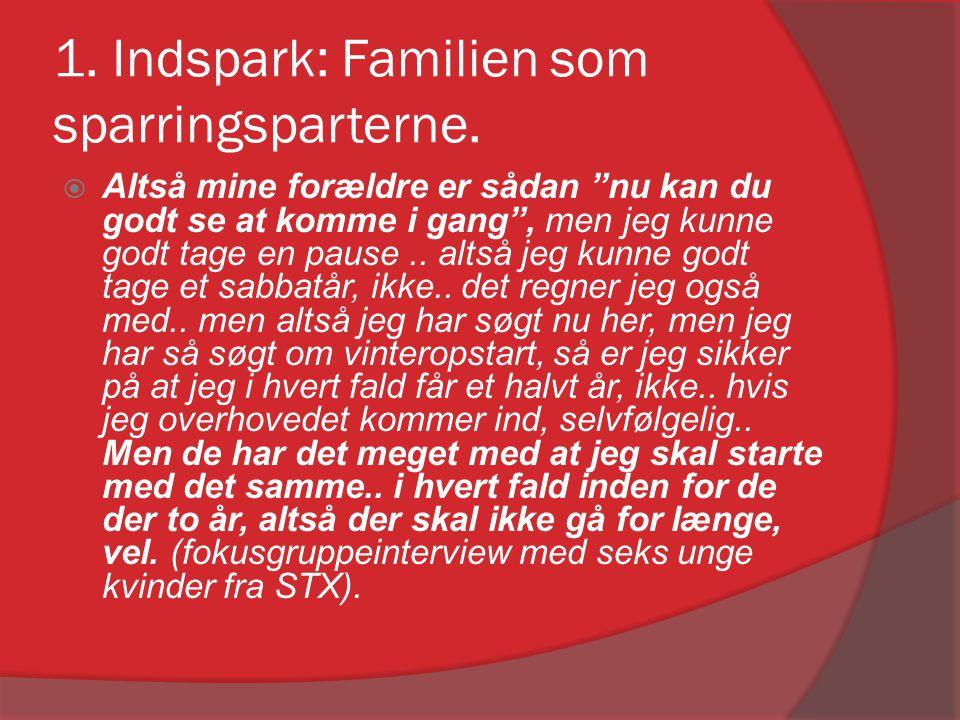 1. Indspark: Familien som sparringsparterne.
