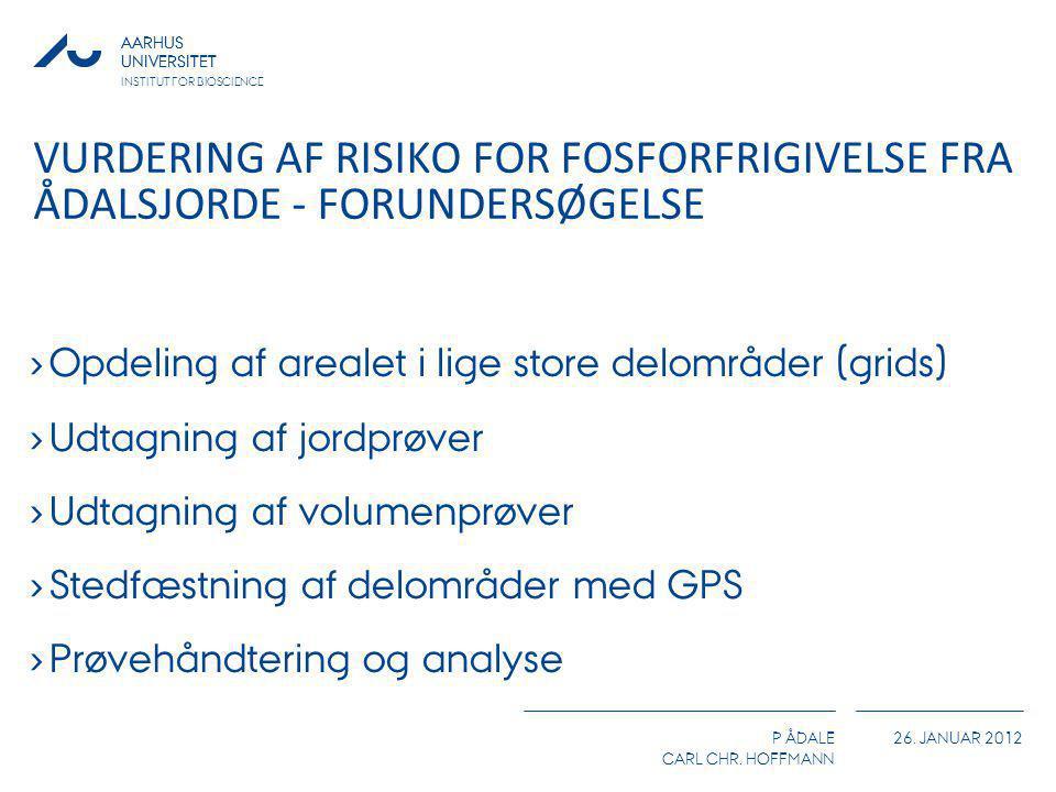 Vurdering af risiko for fosforfrigivelse fra ådalsjorde - forundersøgelse