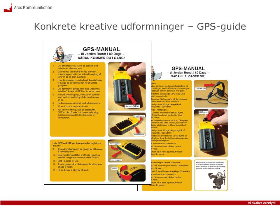 Konkrete kreative udformninger – GPS-guide