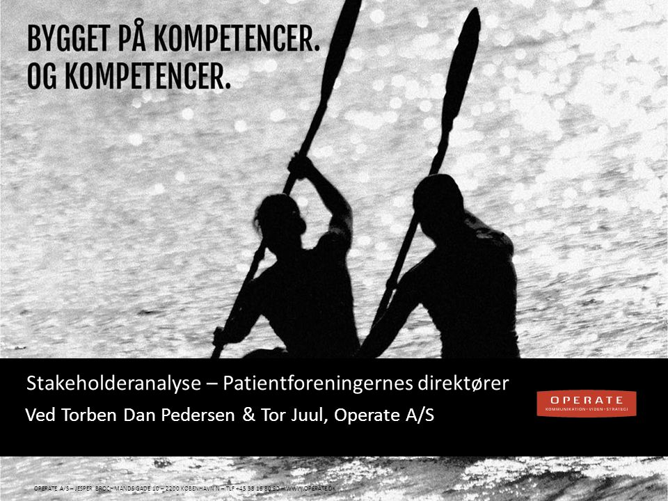 Stakeholderanalyse – Patientforeningernes direktører