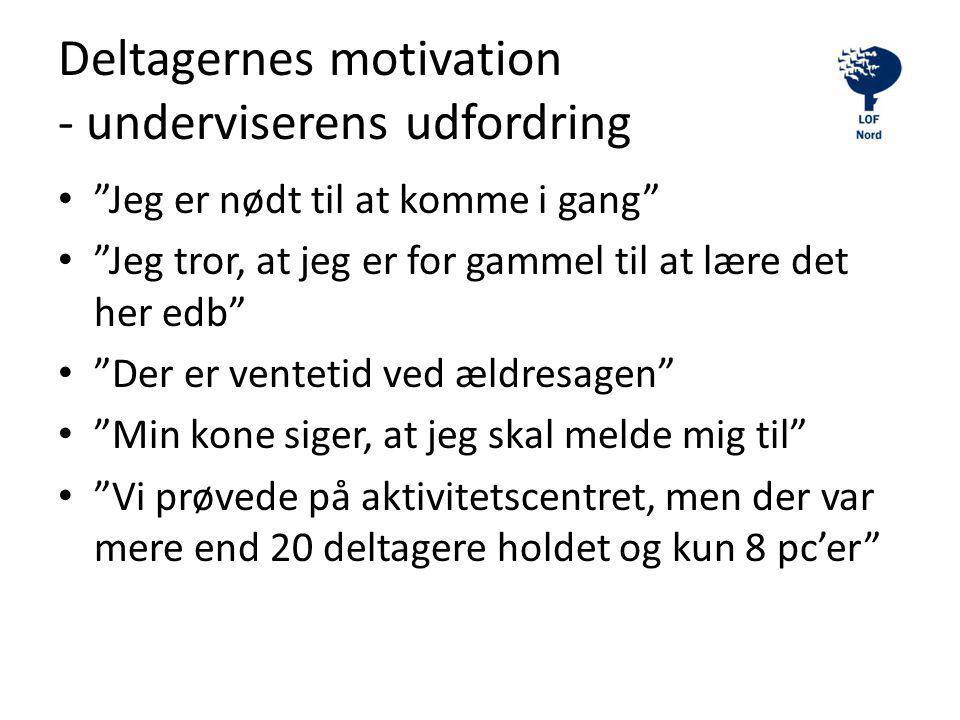 Deltagernes motivation - underviserens udfordring