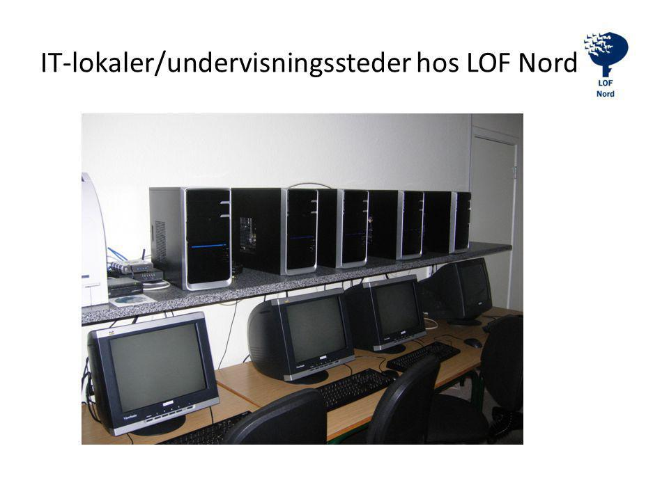 IT-lokaler/undervisningssteder hos LOF Nord