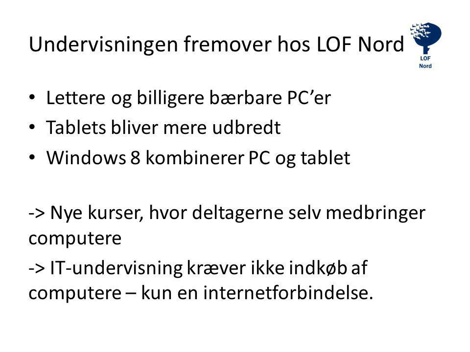 Undervisningen fremover hos LOF Nord